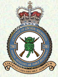 No 2503 Squadron Royal Auxiliary Ar Force Regiment badge