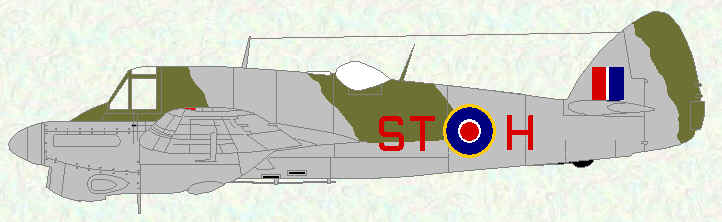 Beaufighter IIF of No 54 Operational Training Unit
