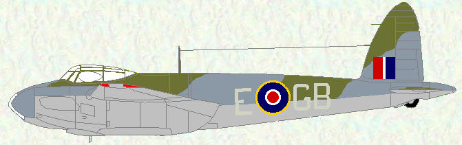 Mosquito IV (Series II) of No 105 Squadron)