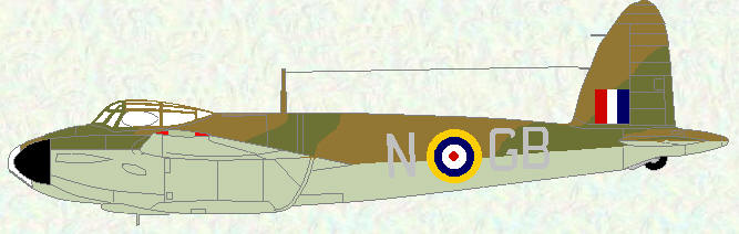 Mosquito IV (Series I) of No 105 Squadron