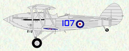 Hawker Hind of No 107 Squadron