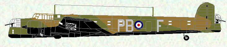 Whitley I of No 10 Squadron (PB code letters)