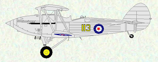 Hawker Hind of No 113 Squadron