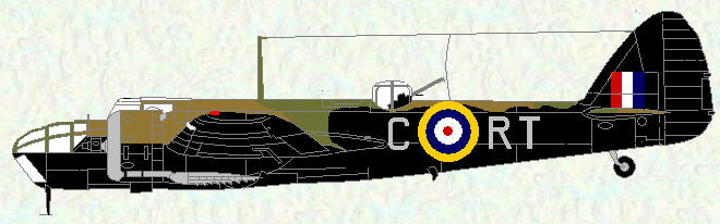 Bristol Blenheim IV of No 114 Squadron (coded RT) 1941