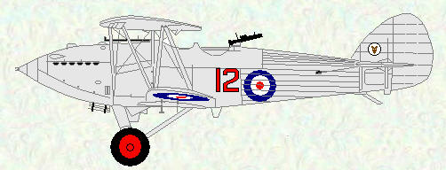 Hawker Hart of No 12 Squadron