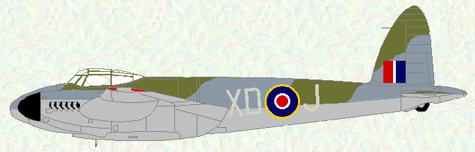 Moquito XX (fitted with H2S) of No 139 Squadron