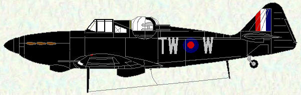 Defiant I of No 141 Squadron (night fighter scheme)