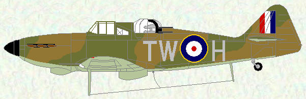 Defiant I of No 141 Squadron (day fighter scheme)