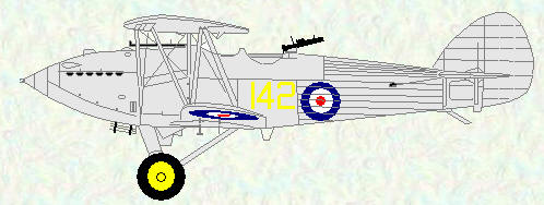 Hawker Hart of No 142 Squadron