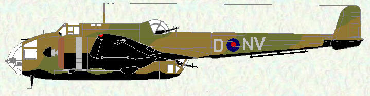 Hampden I of No 144 Squadron (coded NV) - May 1939