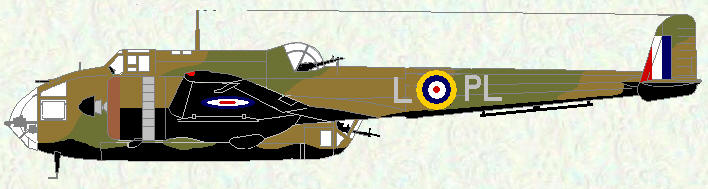 Hampden I of No 144 Squadron (coded PL)
