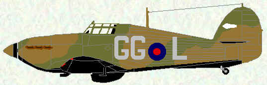 Hurricane I of No 151 Squadron (1939 coded GG)