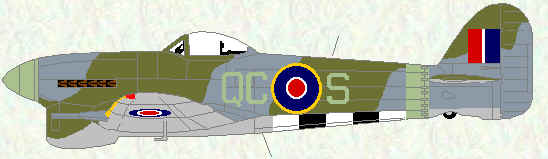 Typhoon IB ofNo 168 Squadron (January 1945)