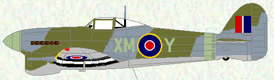 Typhoon IB of No 182 Squadron (original canopy - mid 1943)