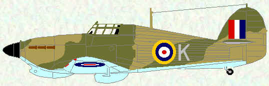 Hurricane I of No 185 Squadron (Malta - 1941)