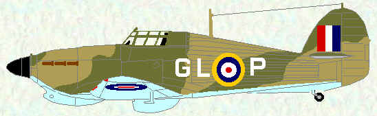 Hurricane I of No 185 Squadron (Malta - 1941, coded GL)
