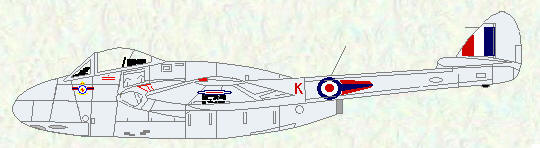 Vampire FB Mk 5 of No 185 Squadron