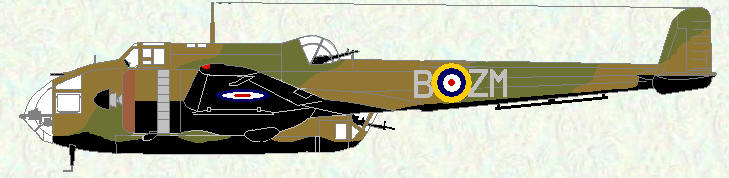 Hampden I of No 185 Squadron