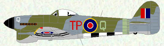 Typhoon IB of No 198 Squadron (July 1944)