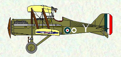 SE5A of No 1 Squadron with white circle marking