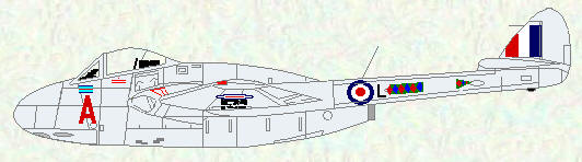 Vampire FB Mk 9 of No 20 Squadron
