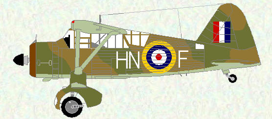 Lysander of No 20 Squadron