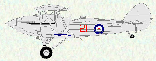 Hawker Hind of No 211 Squadron