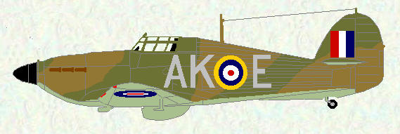 Hurricane I of No 213 Squadron