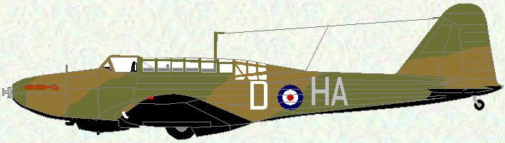 Battle I of No 218 Squadron (coded HA)
