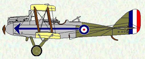 DH 9 of No 211 Squadron