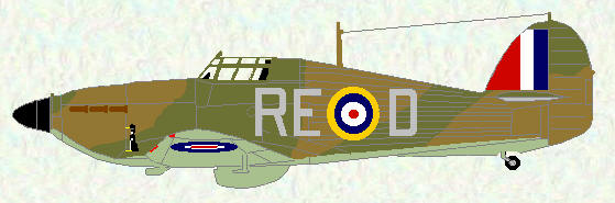 Hurricane I of No 229 Squadron