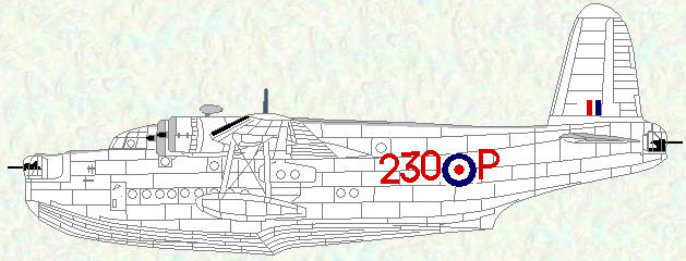 Sunderland GR Mk 5 of No 230 Squadron (post-war markings)