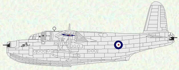 Sunderland I of No 230 Squadron (natural metal)