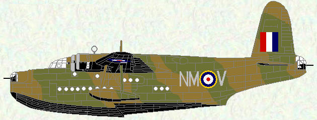 Sunderland I of No 230 Squadron (Temperate Land Scheme)
