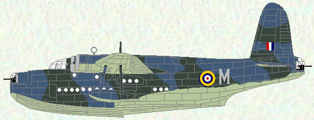 Sunderland I of No 230 Squadron (Temperate Sea Scheme)