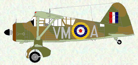 Lysander II of No 231 Squadron