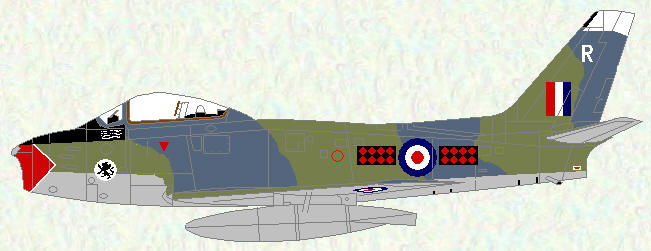 Sabre F Mk 4 of No 234 Squadron (revised markings)