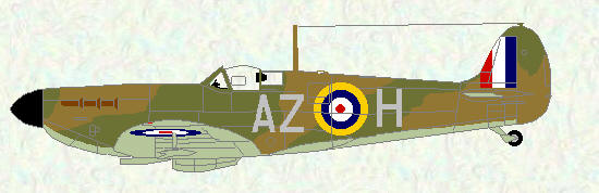 Spitfire I of No 234 Squadron (sky undersurfaces)