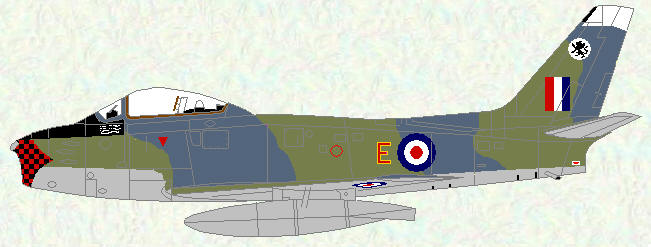 Sabre F Mk 4 of No 234 Squadron (original markings)
