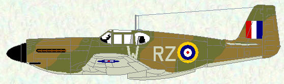 Mustang I of No 241 Squadron (Temperate land scheme)