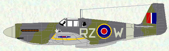 Mustang I of No 241 Squadron (standard day fighter scheme)