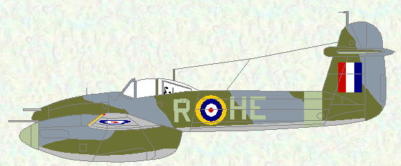 Whirlwind I of No 263 Squadron (Day Fighter scheme with 'Type A1' roundels)