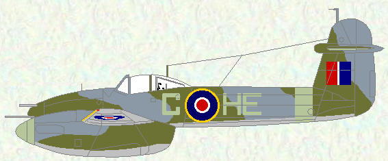 Whirlwind I of No 263 Squadron (Day Fighter scheme with 'Type C1' roundels)