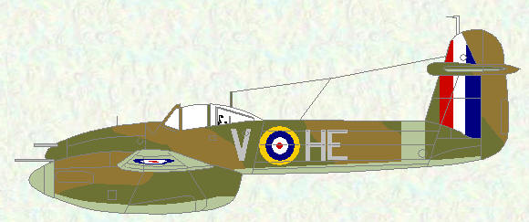 Whirlwind I of No 263 Squadron (Temperate Land Scheme)