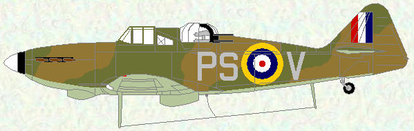 Defiant I of No 264 Squadron (day fighter scheme)