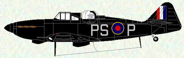 Defiant I of No 264 Squadron (night fighter scheme)