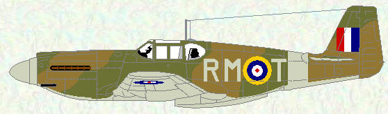 Mustang I of No 26 Squadron (Temperate Land Scheme)