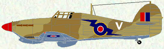 Hurricane IIb of No 274 Squadron (Egypt - late 1942)