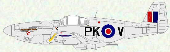 Mustang III of No 315 Squadron (overall natural metal)
