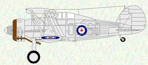 Gladiator I of No 33 Squadron (coded SO)
